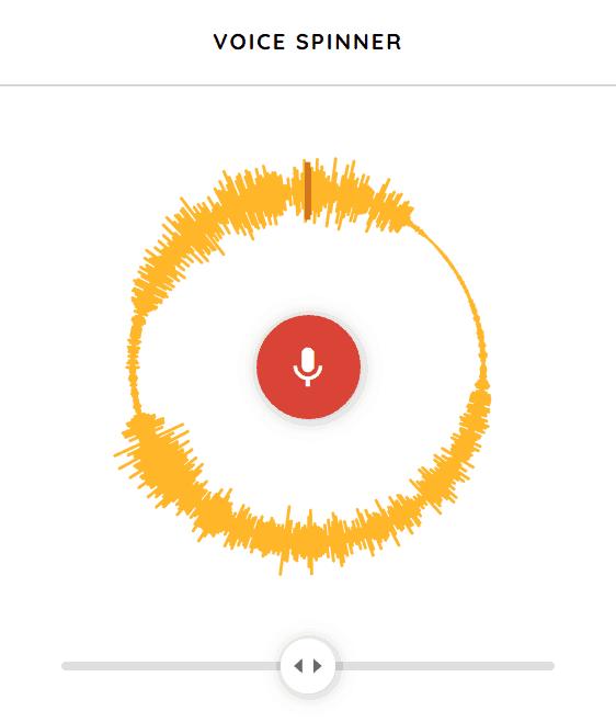 Voice Spinner music game online