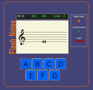 flash notes music games online