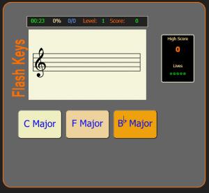 flash key signature music game online