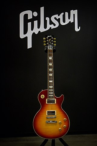 Guitar history: Gibson guitar with the company logo