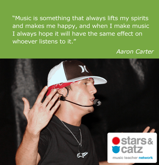 Aaron Carter Music Quote