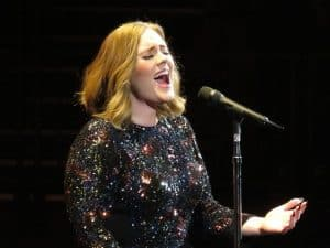 Adele in concert in 2016