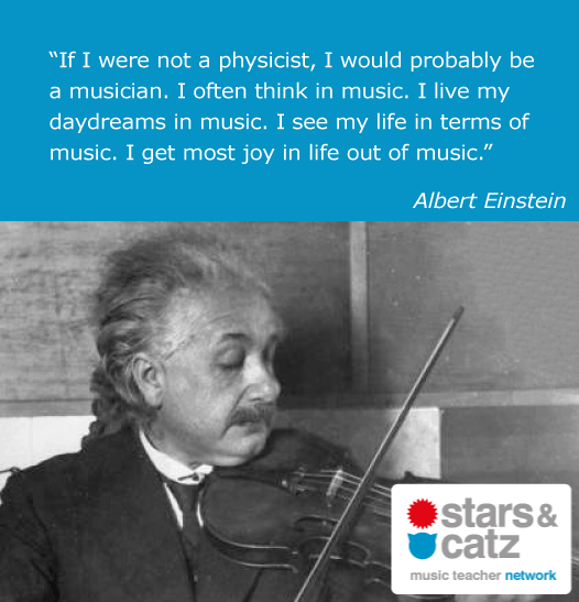 Albert Einstein Music Quote Image