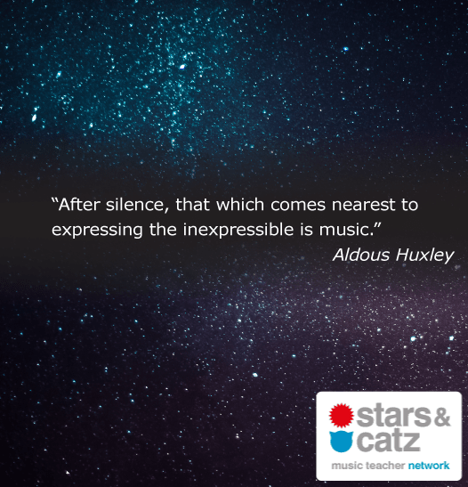 Aldous Huxley Music Quote Image