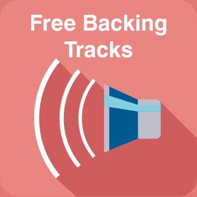 Free online backing tracks banner