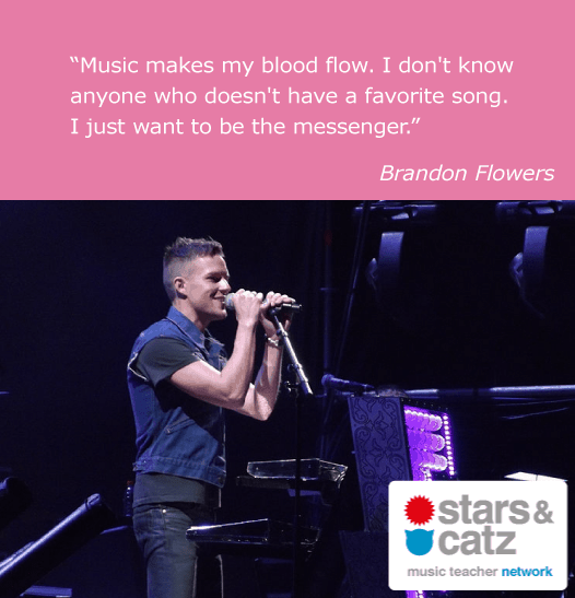 Brandon Flowers Music Quote