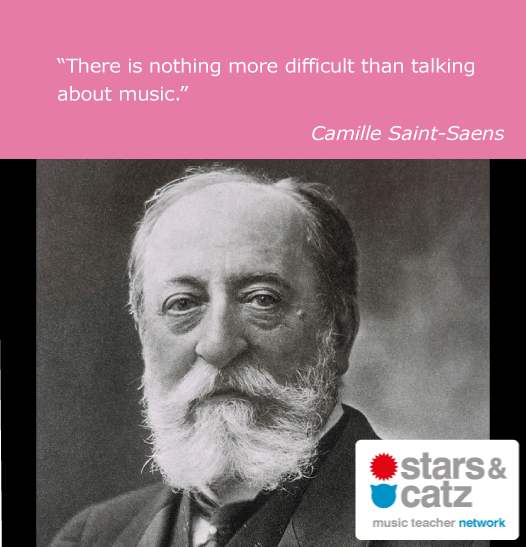 Camille Saint-Saens Music Quote Image