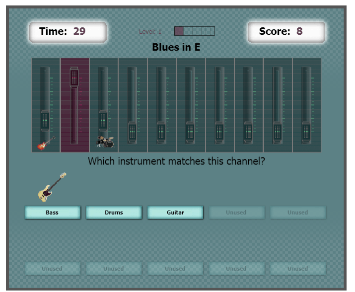 Channel Scramble music education game