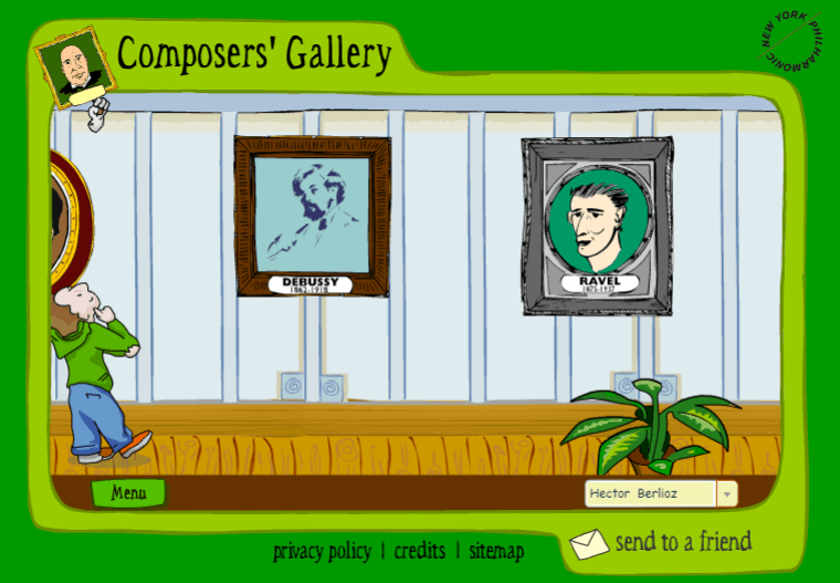 Composers Gallery music game online