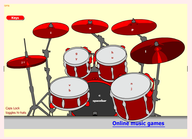 Drums Online Game music game online