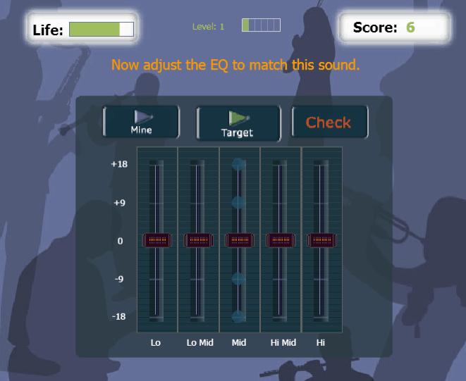 EQ Match music game online