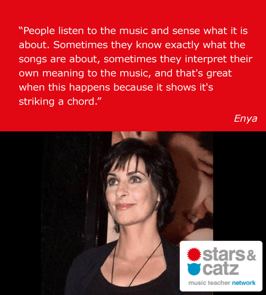 Enya Music Quote