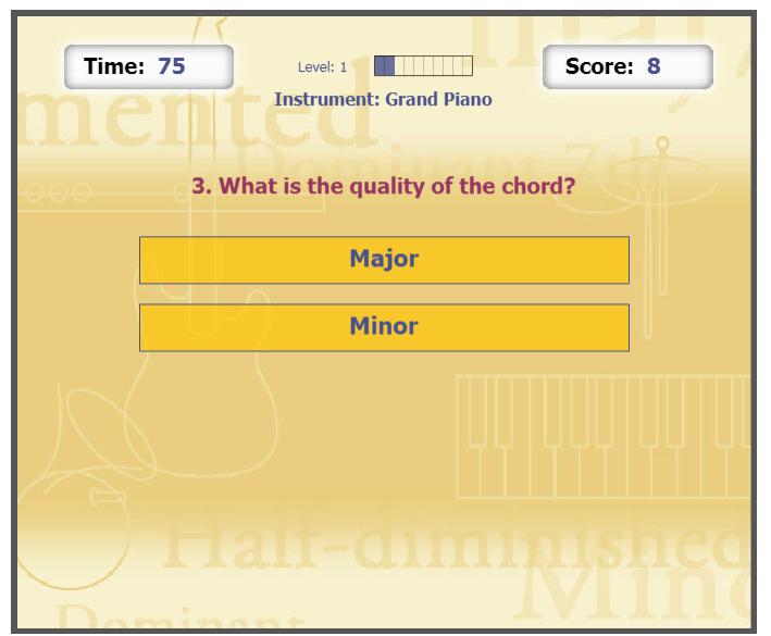 Flash Chord online music game