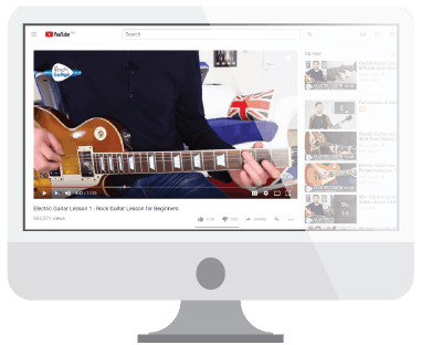 Free guitar lessons image from YouTube