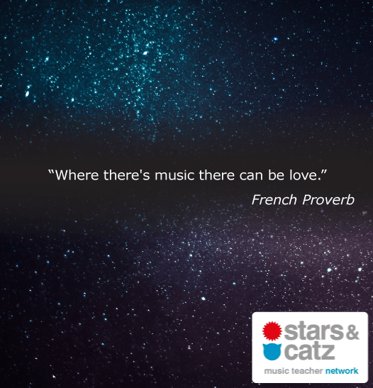 French Proverb Music Quote Image