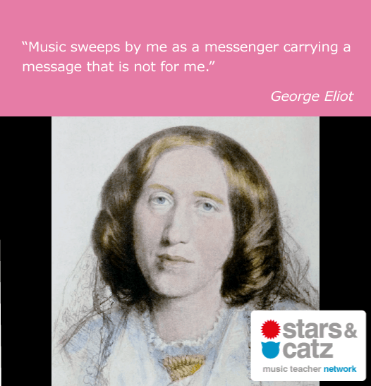 George Eliot Music Quote