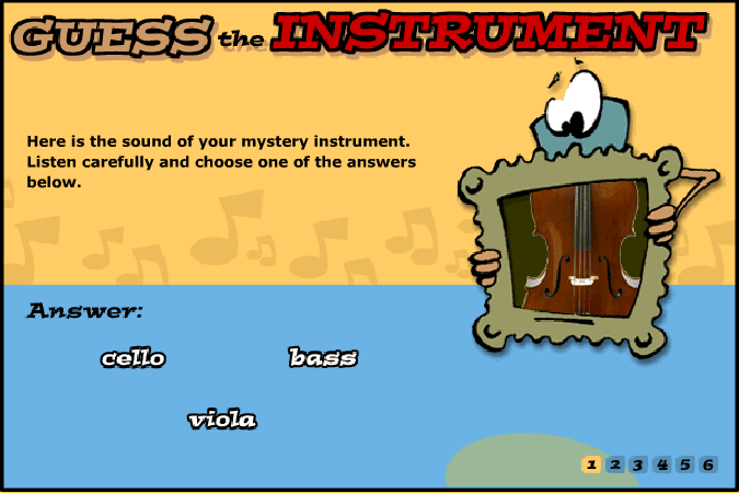 Guess The Instrument music game online