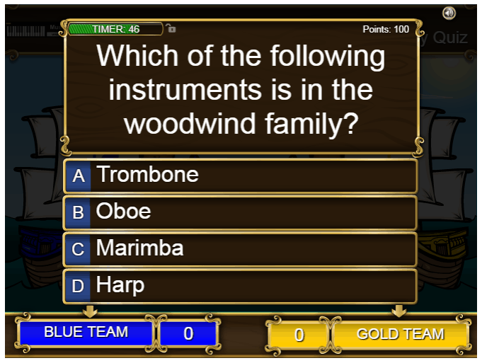 Instrument Family Quiz music game online