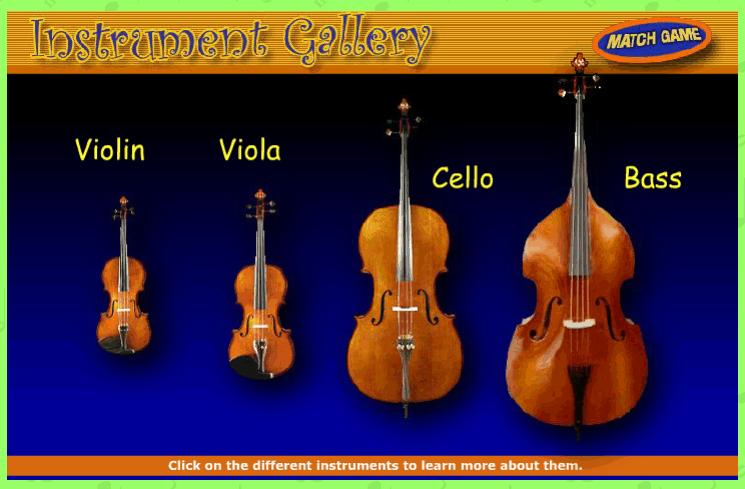 Instrument Gallery String Instruments music game online