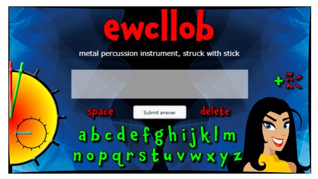 Instrument Scramble music game online