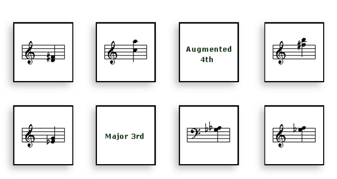 Interval Flash Cards music game online