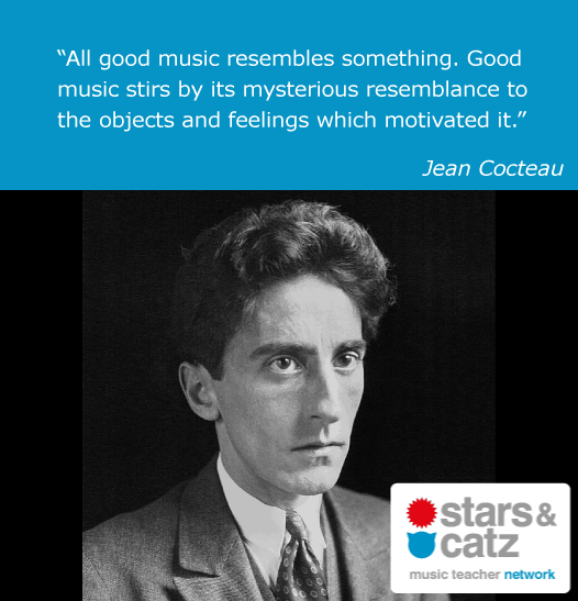 Jean Cocteau Music Quote Image