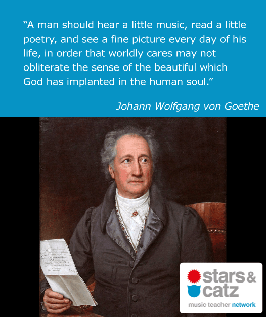 Johann Wolfgang von Goethe Music Quote Image