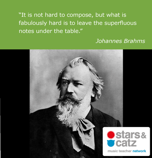 Johannes Brahms Music Quote Image
