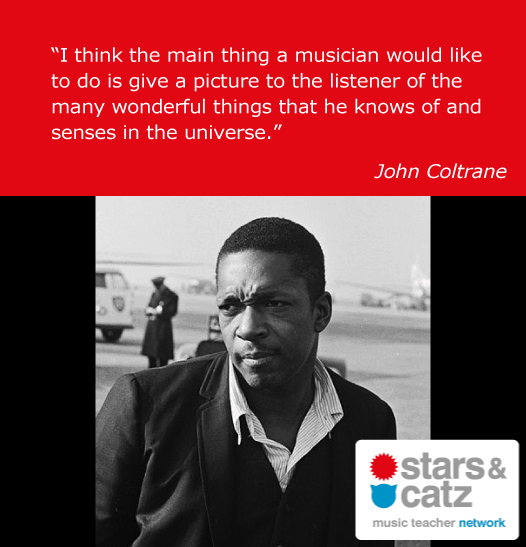 John Coltrane Music Quote