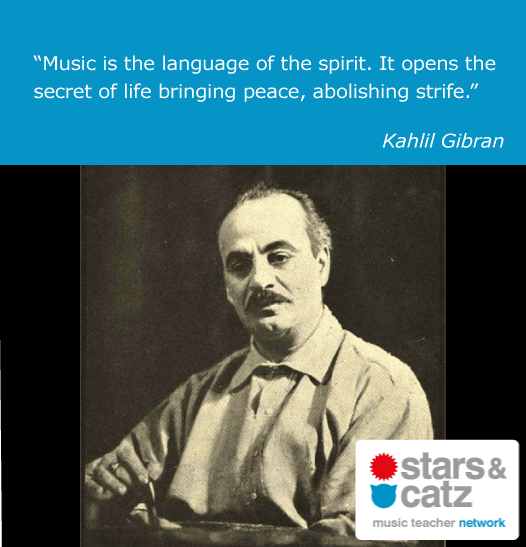 Kahlil Gibran Music Quote Image