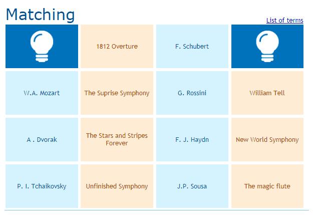 Matching music game online