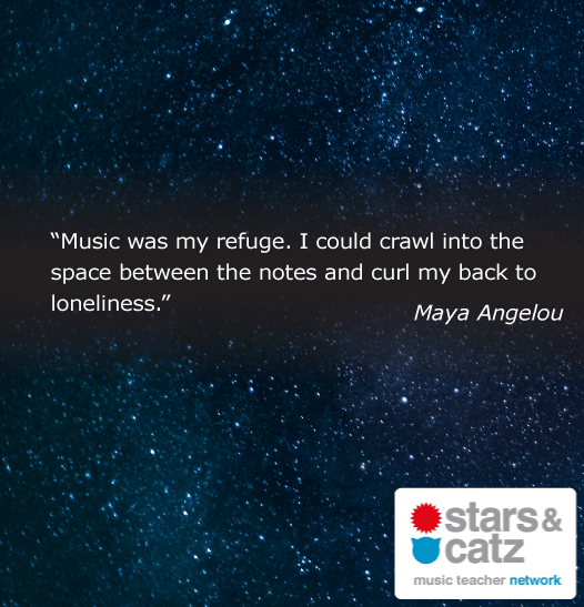 Maya Angelou Music Quote Image