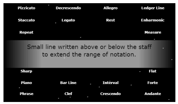 Music Terms music game online
