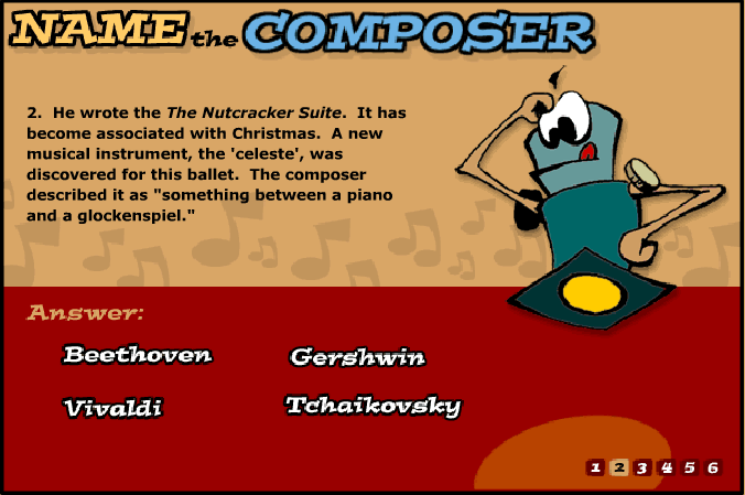 Name The Composer music game online