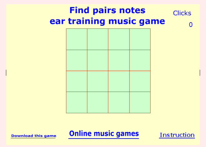 Note pair music game online