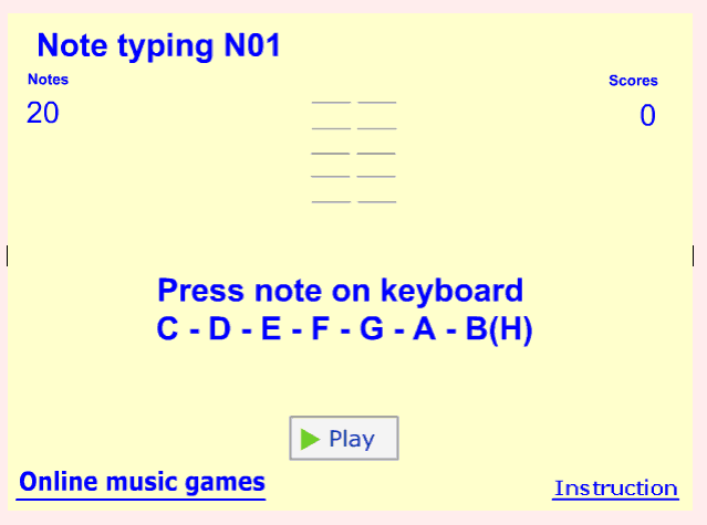 Online Piano Game music game online