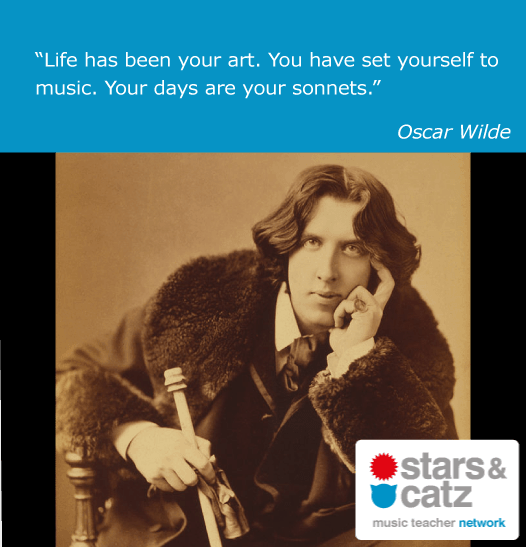 Oscar Wilde Music Quote Image