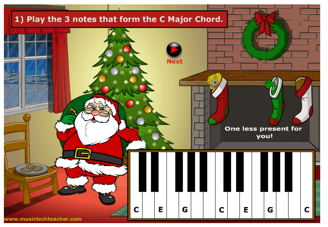 Piano Chord Quiz music game online