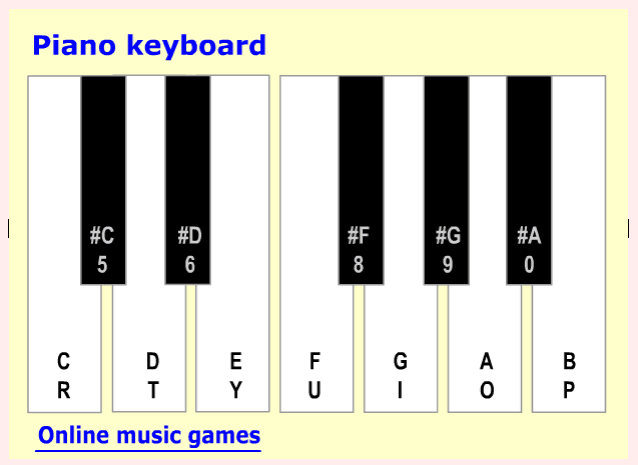piano note emulator online tool