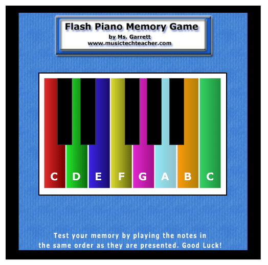Piano Memory Game music game online