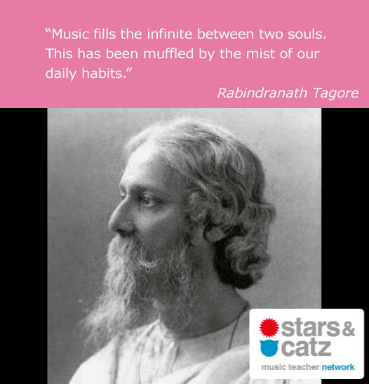 Rabindranath Tagore Music Quote