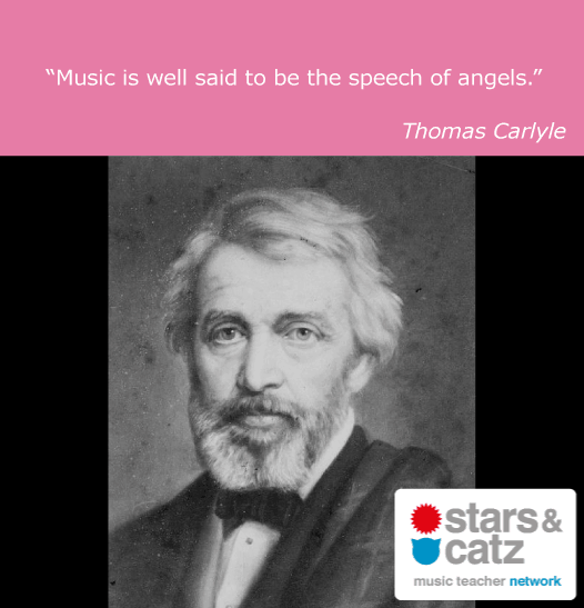 Thomas Carlyle Music Quote 2 Image