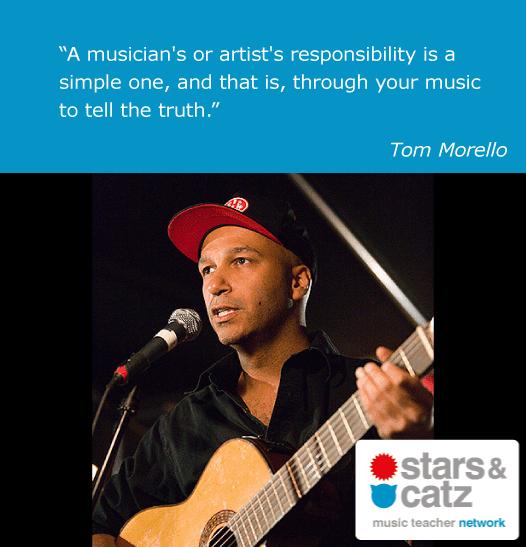 Rage Against Quotes: Tom Morello Music Quote