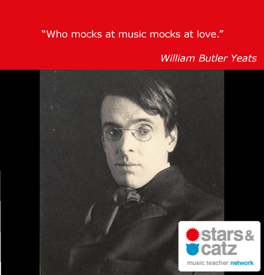 William Butler Yeats Music Quote Image