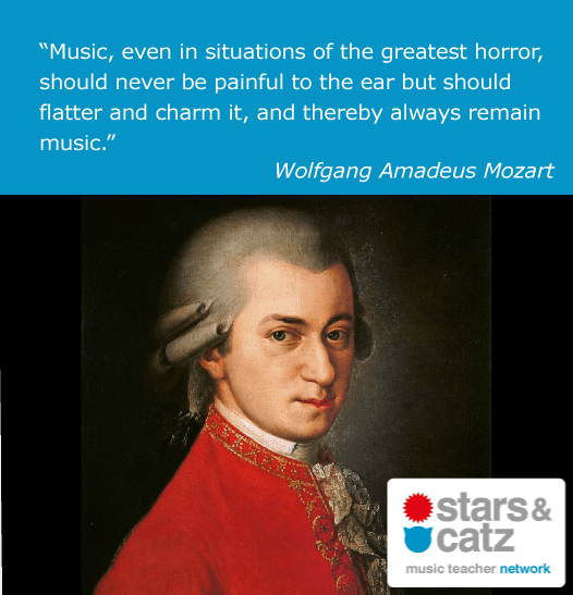 Wolfgang Amadeus Mozart Music Quote