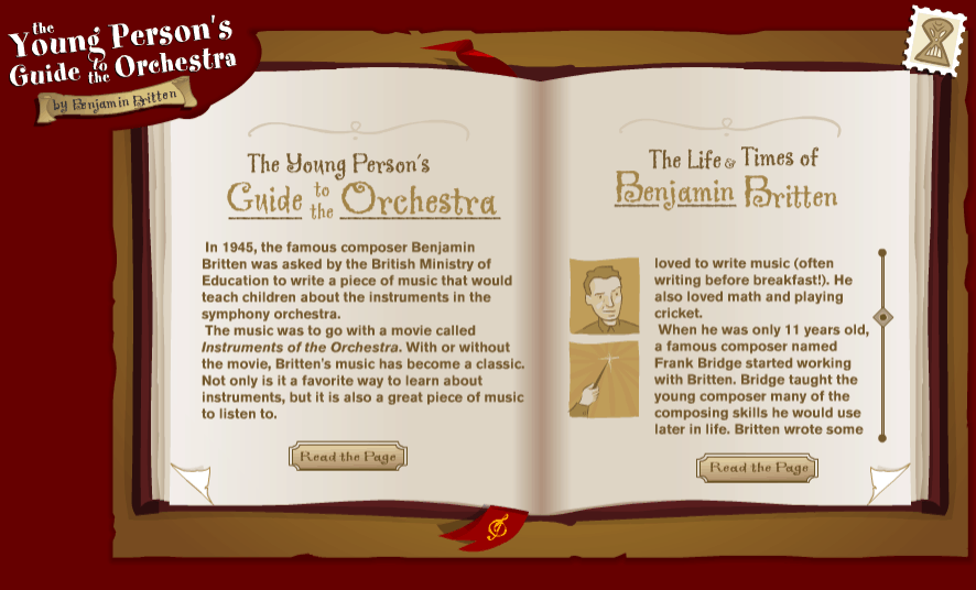 Young Persons Guide To The Orchestra music game online