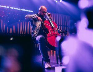 cellist on stage