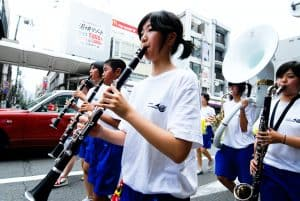clarinets in a marching band