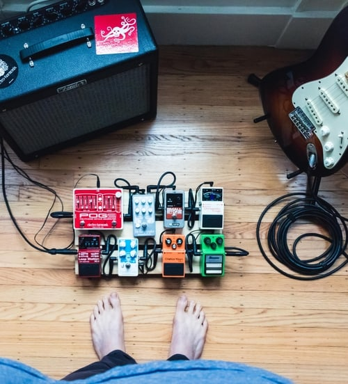 guitar pedals with amp and guitar