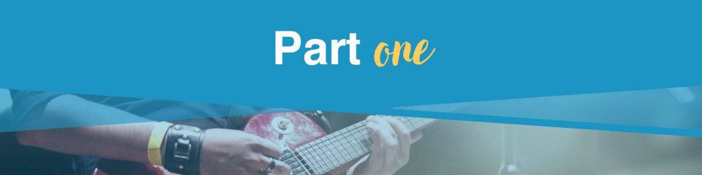 Online guitar lessons part 1 section header